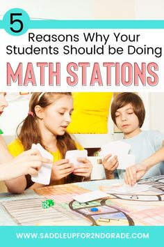 Wondering why math stations are important? Check out this blog post highlighting a bunch of skills that math stations will help develop in your kindergarten, 1st grade, 2nd grade, or other elementary students!