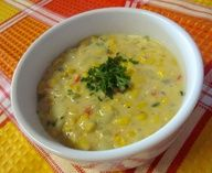 Healthy Vegetarian Corn Chowder Yummy and easy. -ajc