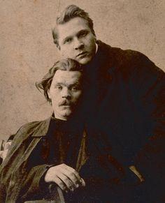 Maxim Gorky and Feodor Chaliapin