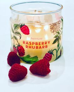 """@irishcandlelady on Instagram: """"Happy Monday everyone ..... I started mine with this gorgeousness this morning.... if you've not tried it yet, it's our new Raspberry…"""" Diy Spring, Raspberry Rhubarb, Candle Jars, Candles, Happy Monday, Decoration, Fragrances, Wicked, Summer"""