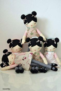 5 Nature dolls reserved for Christine by nooshka on Etsy