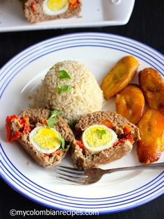 This delicious Albondigón is a traditional Colombian dish. I grew up watching my grandmother and my mom rolling this meatloaf at least once a week. Colombian Dishes, My Colombian Recipes, Colombian Cuisine, Mexican Food Recipes, Healthy Recipes, Cooking Recipes, Spanish Recipes, Plats Latinos, Columbian Recipes