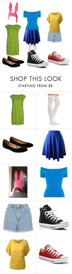 """bobs burgers"" by sagetheflowerchildofmadness ❤ liked on Polyvore featuring Moschino Cheap & Chic, Charlotte Russe, Accessorize, Karen Millen, Topshop and Converse"