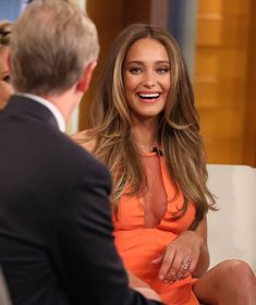"""Hannah Davis visits """"FOX and Friends"""" at FOX Studios on February 10, 2015 in New York City."""