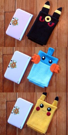 Keep your device nice and cozy in one of these handmade Nintendo DS cases! Stitched up to resemble your favorite Pokemon, these fleece pouches come in plenty of sizes to fit snug over any type of DS. Anime Diys, Anime Crafts, Pokemon Craft, Pokemon Gifts, Pokemon Poster, Geek Crafts, Fun Crafts, Nintendo Ds Case, Nintendo Room