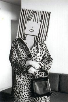 Saul Steinberg was a cartoonist for The New Yorker, and Inge Morath was a photographer. Steampunk Mode, Bühnen Design, Graphic Design, Inge Morath, Saul Steinberg, Paper Mask, Photocollage, The New Yorker, Halloween Masks