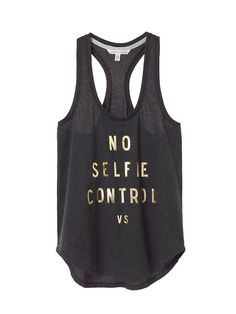Pshhh, no such thing as too many selfies when you're wearing a tank this cute! | Victoria's Secret Anytime Tees Racerback Tank