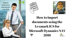 How to Import electronic documents via OCR Using the Lexmark ICS for Mic...