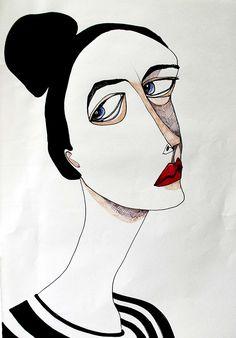 Fashion Art Illustration Black and White - - Abstract Drawings, Art Drawings, Art Sketches, Illustration Art Drawing, Fashion Sketches, Aesthetic Art, Korean Aesthetic, Aesthetic Drawing, Aesthetic Black