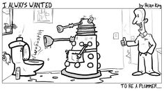 Daily Dalek Guest Strip by Brian King of I Always Wanted.