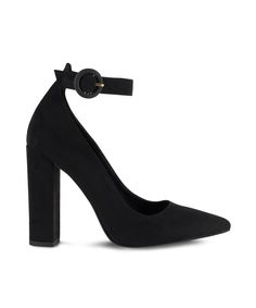 SANTE classic pointed toe with ankle strap for wow office attires. Office Attire, Pumps, Heels, Ankle Strap, Toe, Classic, Black, Fashion, Choux Pastry