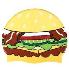 Sporti Hamburger Silicone Swim Cap at SwimOutlet.com