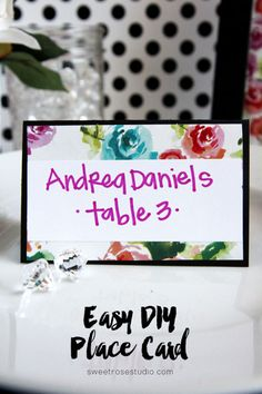 Easy DIY Place Card at Sweet Rose Studio