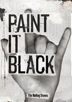 Paint it Black by - vanth -, via Flickr When in doubt about an old, beat up piece of furniture...