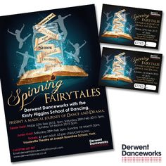 Posters and tickets, design and printed for Derwent Danceworks' latest show - designed by Kelle, York Print Company.
