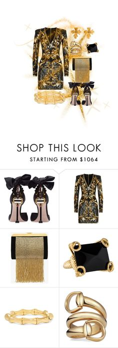"""""""fashion party"""" by grisucloset ❤ liked on Polyvore featuring Miu Miu, Balmain, Gucci and Chanel"""