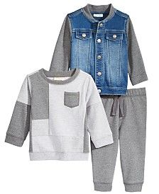 Baby Boy Clothes at Macy's come in a variety of styles and sizes. Shop Baby Boy Clothing and find the latest styles for your little one today. Toddler Boy Outfits, Toddler Boys, Kids Outfits, Cute Outfits, Jogger Pants, Joggers, Denim Bomber Jacket, Sweatshirts, Jackets