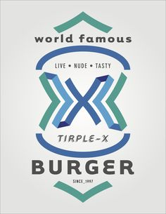 Triple-X Burger Branding Concept and Execution from www.JaredWick.com