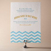 Vintage Beach Letterpress Invitation Design Small