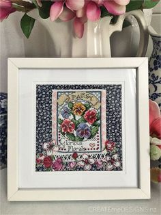 Createme's shop | Felt Fabric Bows, Fabric Art, Queens Birthday Weekend, Queen Birthday, Beading Ideas, Pansies, Stitching, Cross Stitch, Gallery Wall