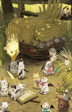 Nesting Chocobo by gavi-gavi.deviantart.com on @deviantART