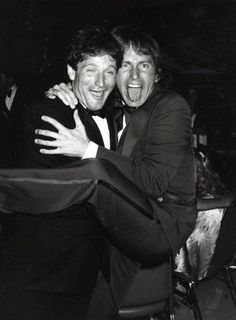 Robin Williams and John Ritter at the Emmy Awards, c.1979