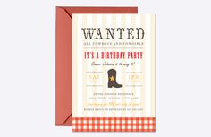 Western Birthday Invite Template  @creativework247