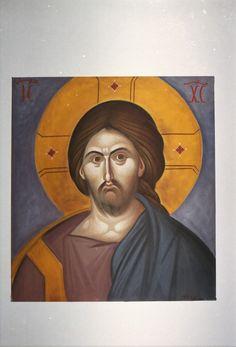 Pantocrator, copy .  Artist Aggeliki Papadomanolaki. Agiografia.tumblr.com I Icon, Christian Art, Byzantine, Christianity, Artist, Painting, Drawings, Catholic Art, Artists