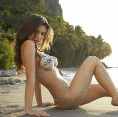 2014 Sports Illustrated Swimsuit Models Wearing Nothing But Body Paint. - if it's hip, it's here