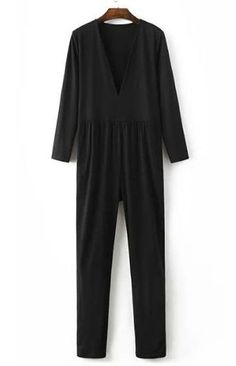 Specifications: Item Type:Jumpsuits & Rompers Fit Type:Straight Pattern Type:Solid Style:Casual Type:Jumpsuits Fabric Type:Broadcloth Material:Cotton,Polyester Length:Full Length Size Shoulder Bust Wa