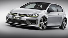 Why Stop at 395 Horsepower VW Hints Golf R 400 Likely WillPack More than 400 Ponies - At the 2014 Beijing auto show, Volkswagen showed the fantastic Golf R 400 Concept, a hypothetical ultra-hot-hatch powered by a turbocharged four-cylinder engine. Volkswagen Polo, Volkswagen New Beetle, Golf 7 Gti, Vw Golf R, New Golf, Audi, Ford Bronco, Mercedes Amg, Top Gear