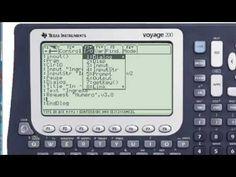 Como programar calculadora Voyage 200 - Métodos de entrada y salida de datos Calculator, Entryway