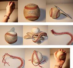 DIY Baseball Bracelet - #diy