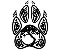 Items similar to Celtic Tree of Life Wolf Paw on Etsy Celtic Wolf Tattoo, Celtic Tree Tattoos, Tribal Wolf Tattoo, Norse Tattoo, Viking Tattoos, Tribal Tattoos, Wiccan Tattoos, Inca Tattoo, Indian Tattoos