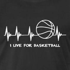 Basketball Heartbeat - Men's Premium T-Shirt