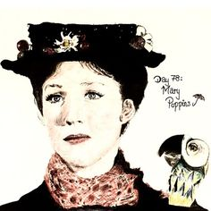 Mary Poppins drawing by SDJCoxy for 'Disney Through The Ages'