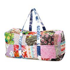 UPCYCLED COTTON SARI DUFFLE BAG   patchwork recycled sari bag   UncommonGoods