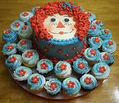 Raggedy Ann Cake  Cupcakes