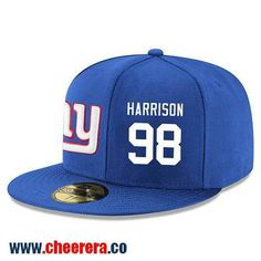New York Giants #98 Damon Harrison Snapback Cap NFL Player Royal Blue with White Number Hat
