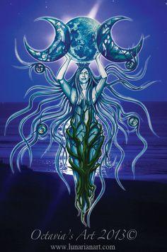 Moon Goddess Print  Goddess Art by Lunarianart on Etsy, £4.99