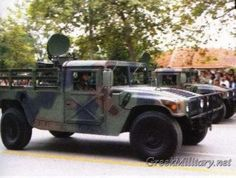 The M998 is the baseline vehicle for the M998 series of 1 1/4-ton trucks, which are known as the HMMWV vehicles. Description from greekmilitary.net. I searched for this on bing.com/images