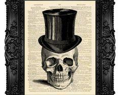 Skull Art Print Poster SUGAR SKULL Skull by MadameBricolagePrint