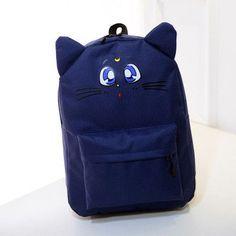 ed743c9584 CIKER Harajuku Style Backpack Sailor Moon Nylon Backpack Cute Cat Shoulder  Bag School Bags For Teenager