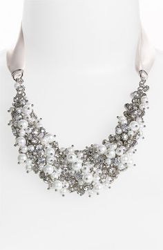 Nina 'Melaney' Ribbon & Cluster Bib Necklace, $120. This is the necklace I really liked at Nordstrom.
