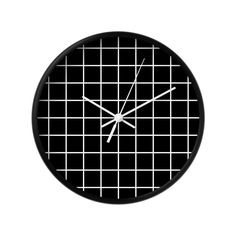 Black and white grid wall clock Abstract wall clock Housewarming gift monochrome decor grid clock Minimal wall clock black clock by LatteHome on Etsy https://www.etsy.com/listing/292868565/black-and-white-grid-wall-clock-abstract