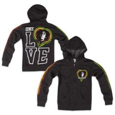 Bob Marley Women's One Love Zip-Up Hoodie