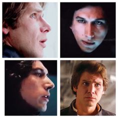 Father and son. Kylo Ren/Ben Solo and Han