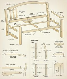 <strong>Outdoor Furniture:</strong> This classic English style garden bench is a great introduction to basic mortise and tenon construction and a comfortable addition to any deck or garden.<br />