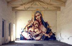 Borondo x Cane Morto,  Bologna Italy