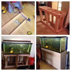 DIY fish tank stand Diy Aquarium Stand, Aquarium Fish, Tanked Aquariums, Fish Aquariums, Fish Tank Stand, Saltwater Tank, Marine Fish, Underwater World, Tropical Fish